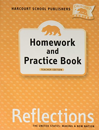 9780153414879: Harcourt School Publishers Reflections California: Te Homework/Prac Gr5 Rflc 07