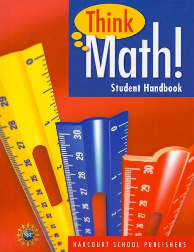 9780153424762: Harcourt School Publishers Think Math: Student HandBook Grade 4 2008 (Nsf Think Math)