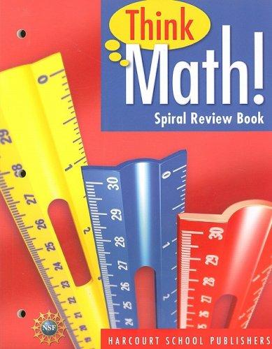 Harcourt School Publishers Think Math: Spiral Review Book Think Math! Grade 4: HARCOURT SCHOOL ...