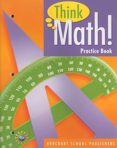 9780153424977: Harcourt School Publishers Think Math: Practice Book Think Math! Grade 5 (Nsf Think Math)