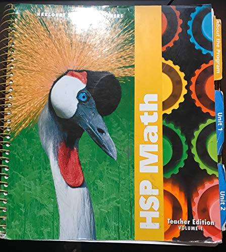 9780153425516: HSP Math, Teacher Edition, Grade 3, Vol. 1