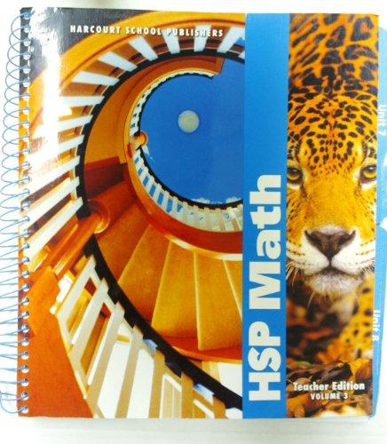 Harcourt School Publishers Math: Teacher's Edition Vol 3 Grade 6 2009: HARCOURT SCHOOL ...