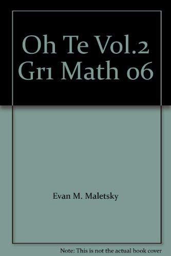 Oh Te Vol.2 Gr1 Math 06: Maletsky, Evan; Andrews,
