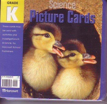 Harcourt Science Picture Cards Grade K (Set: Harcourt