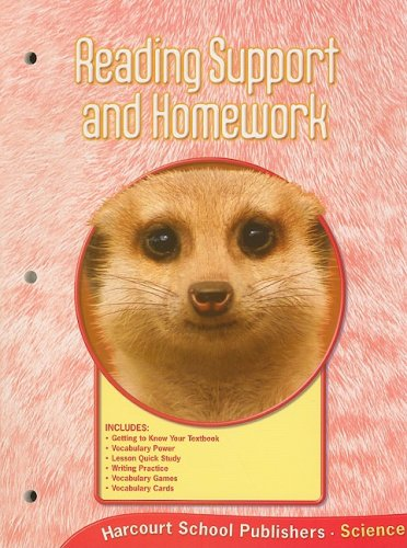 9780153436048: Harcourt Science - National Version: Grade 2: Reading Support and Homework. Student ed