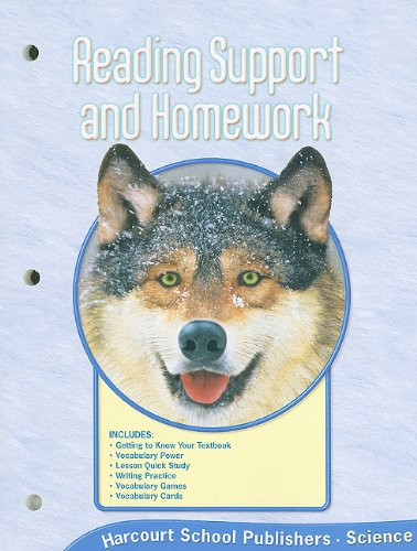 9780153436062: Harcourt Science Reading Support and Homework, Grade 4