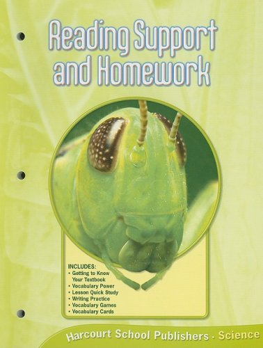 9780153436086: Science Reading Support and Homework, Grade 6