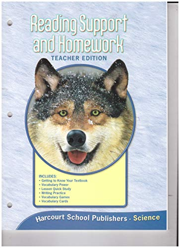 9780153436123: Reading Support and Homework, Teacher's Edition (Harcourt Science, Grade 4)