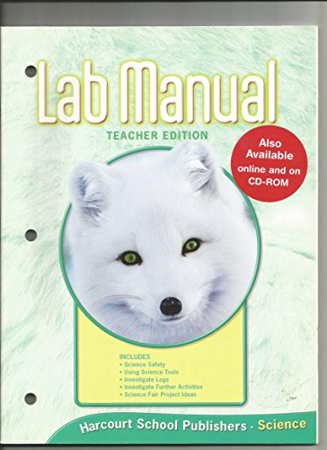 Lab Manual (Science, grade 1) (0153436212) by Harcourt
