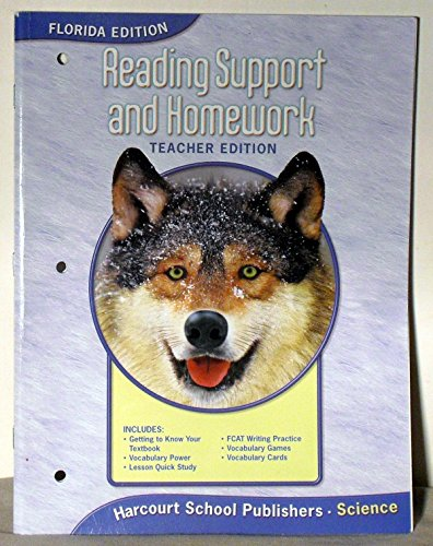 9780153437588: Reading Support and Homework, Teachers Edition, Florida Edition, Grade 4