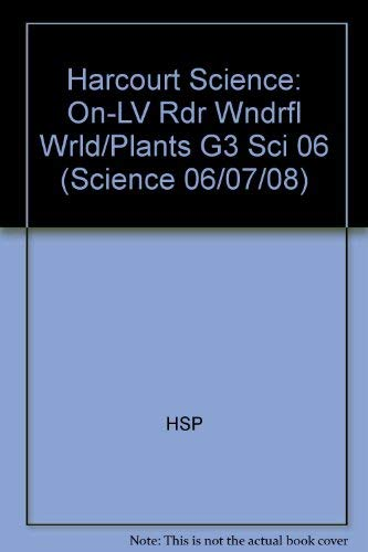9780153439247: Harcourt Science: On-Level Reader Grade 3 The Wonderful World of Plants