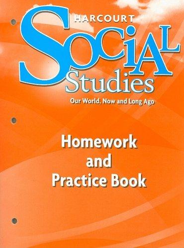 9780153472916: Harcourt Social Studies: Homework and Practice Book Student Edition Grade K