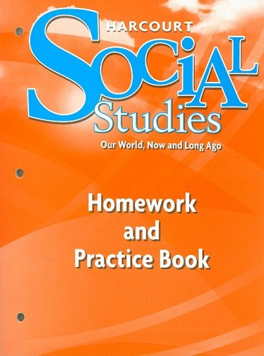 9780153472916: Harcourt Social Studies: Homework and Practice Book Student Edition Grade K