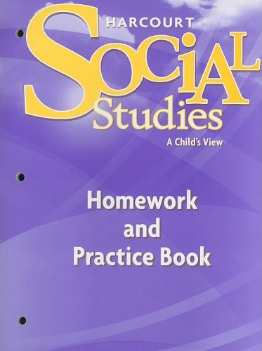 9780153472923: Harcourt Social Studies: Homework and Practice Book Student Edition Grade 1