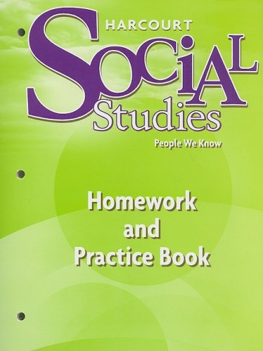 9780153472930: Harcourt Social Studies People We Know, Homework and Practice Book, Grade 2