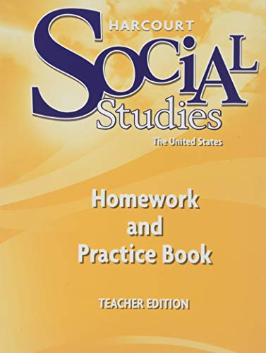 9780153473029: Harcourt Social Studies: Homework and Practice Book Teacher Edition Grade 5 United States