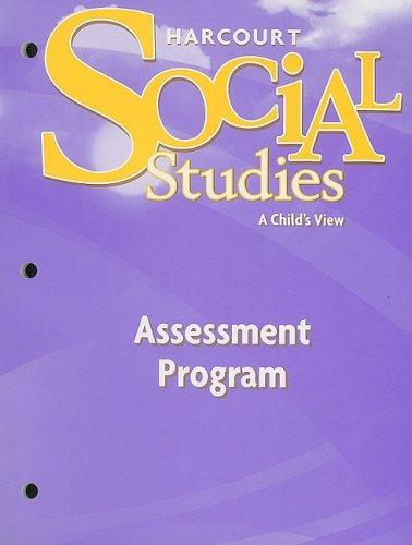 9780153473067: Harcourt Social Studies: Assessment Program Grade 1