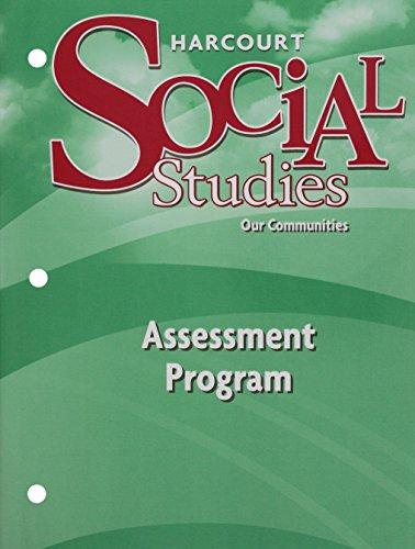 9780153473081: Harcourt School Publishers Social Studies Assessment Program Grade 3