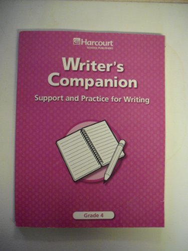 9780153490644: Trophies: Writer's Companion: Support and Practice for Writing Grade 4