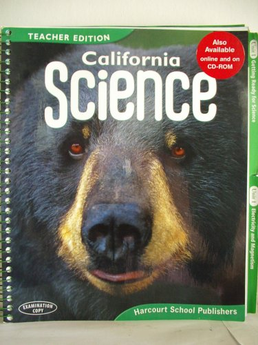 9780153491061: Harcourt School Publishers Science California: Teacher's Edition Grade 4 2008