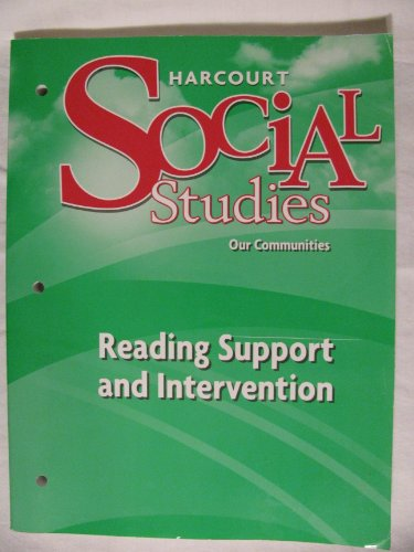 9780153494291: Harcourt Social Studies: Reading Support and Intervention Grade 3