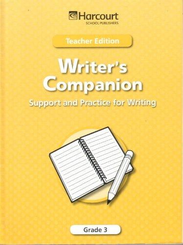 Harcourt School Publishers Trophies: Writer Comp:Spprt/Pract Te: HARCOURT SCHOOL PUBLISHERS
