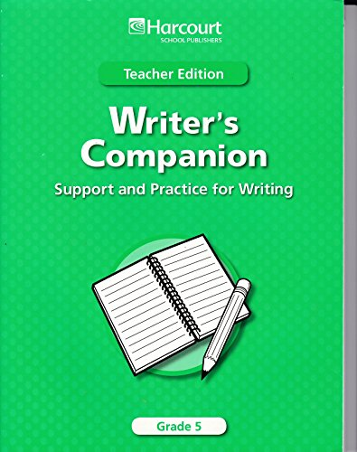9780153495366: Trophies Writer Companion:supprt and Practice for Writing Grade 5: Teacher Edition (Harcourt School Publishers Trophies)