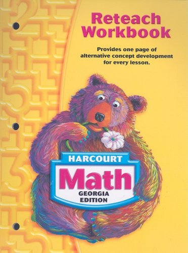 Math Grade 1 Reteach Workbook Harcourt School Publishers
