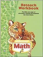 9780153495779: Harcourt School Publishers Math Georgia: Reteach Wkbk Te Gr 5