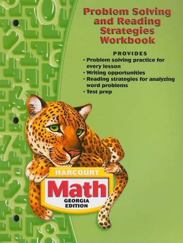 9780153495823: Harcourt School Publishers Math Georgia: Problem Solving/Reading Strategies Workbook Student Edition Grade 5