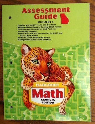 9780153495939: Harcourt School Publishers Math Georgia: Asmnt Gd Gr 5
