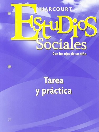 9780153496981: Harcourt Estudios Sociales: Student Homework & Practice Book Grade 1 (Spanish Edition)