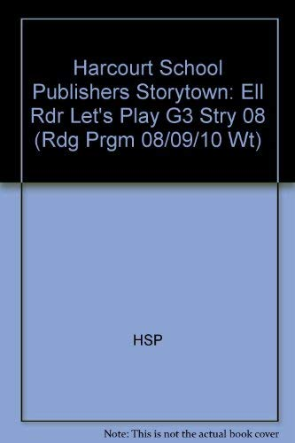 Let's Play, Ell Reader Grade 3: Harcourt: Hsp