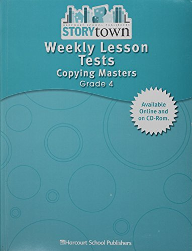 9780153517228: Storytown: Weekly Lesson Tests Copying Masters Teacher Edition Grade 4
