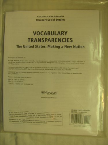 9780153518263: Harcourt Social Studies: Vocabulary Transparencies Grade 5 US: Making a New Nation