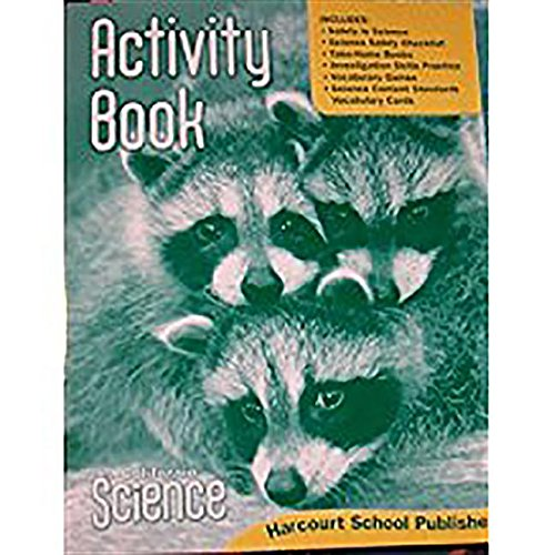 9780153519543: Harcourt School Publishers Science California: Activity Book Student Edition Science 08 Grade K