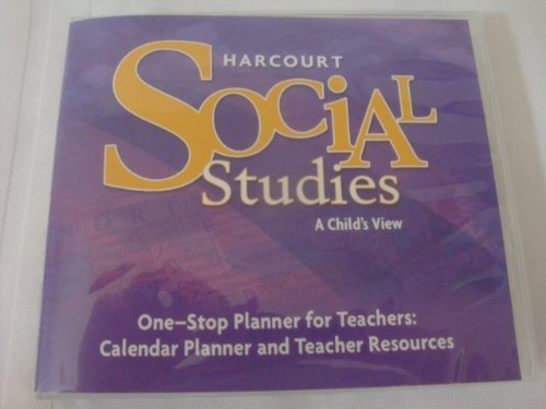 9780153519871: Harcourt Social Studies: One-Stop Planner for Teachers CD-ROM Grade 1