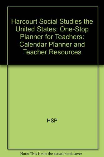 9780153519925: Harcourt Social Studies: One-Stop Planner for Teachers CD-ROM Grade 5 United States