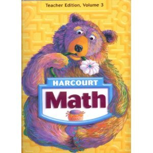 Harcourt Math Grade 1 Teacher Edition, Volume 3 (Units 5 and 6, Chapters 21-30)