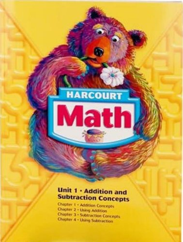 9780153527128: Harcourt School Publishers Math: Student Edition Unit Book Collection Grade 1 2007