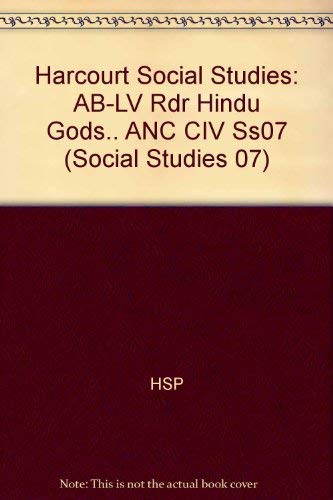 9780153530616: Harcourt Social Studies: Ancient Civilizations: Above-Level Reader Hindu Gods and Goddesses