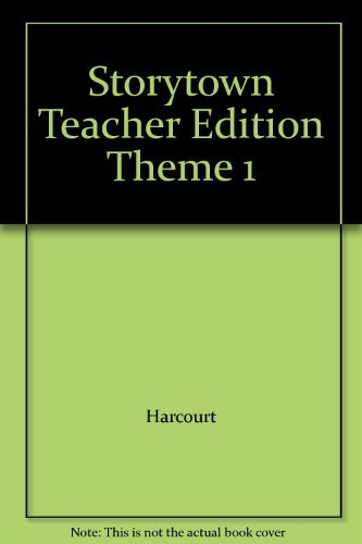9780153537363: Storytown, Theme 1, Teacher's Edition, Grade 6, Dive Right in