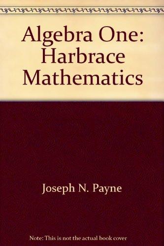 9780153540592: Algebra One: Harbrace Mathematics
