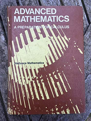 9780153540820: Advanced Mathematics: A Preparation for Calculus