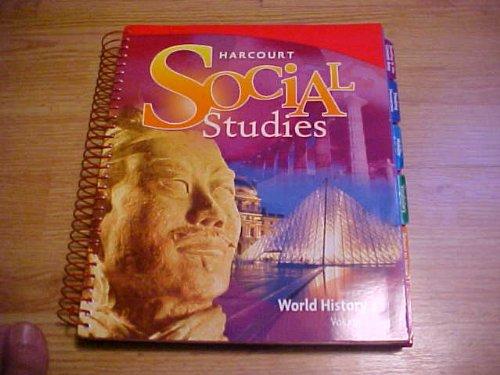 9780153542411: Harcourt Social Studies, Vol. 1: World History, Teacher's Edition