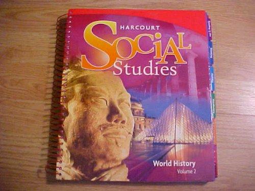 9780153542428: Harcourt Social Studies World History, Vol. 2, Teacher's Edition