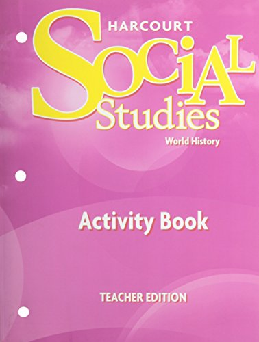 9780153542480: Harcourt Social Studies: World History Homework & Practice Book Teacher Edition