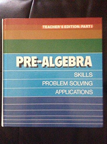 Pre-algebra: Skills, problem solving, applications: Vincent Brumfiel