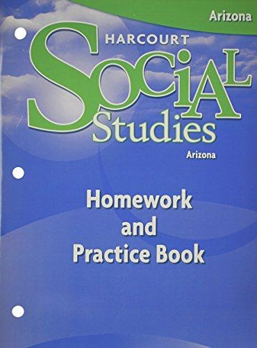 9780153562839: Harcourt Social Studies: Homework & Practice Book Student Edition Grade 4 Arizona
