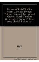 9780153566394: Geography, History and Culture, Grade 4: Harcourt School Publishers Social Studies North Carolina